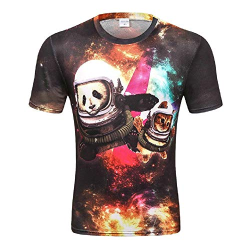 PeaceCake Heren 3D Gedrukt Zomer Casual T-shirt met korte mouwen T-shirts Tees