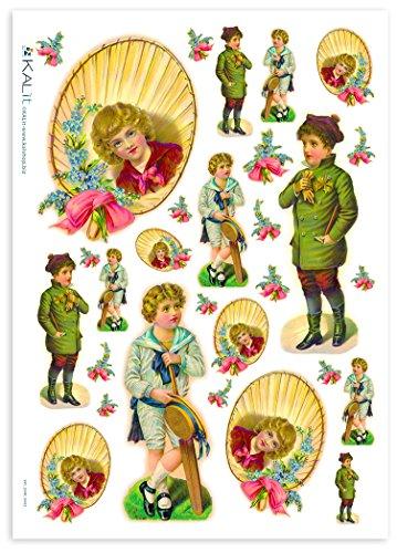 Accademia del Decoupage 32 x 45 cm bambini di disegno del riso lampada di carta