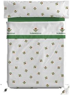 NEW IMPORT Juego de sábanas 3 Piezas Real Betis Balompié. 100% algodón (Cama 90)