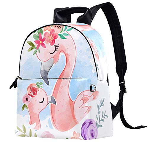 Backpack,14.5x12.5x5.9 Inch Stylish College School Backpack Casual Backpack for Women/Girls/Business/Travel ,Beautiful flamingo