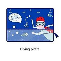 車のサンシェード ユニバーサル車のサイドウィンドウサンシェードカーテン夏アジャスタブル日焼け止めサンシェイド太陽のストレージネット (Color : Diving pirate)