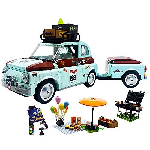 ENJBRICK Car Building Set Tourist Car Building Blocks for Adults Fun Model Building Kit Toy 1475pcs