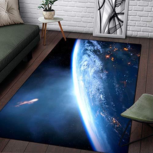 European-Style Simple Modern 3D Printing Planet Pattern Floor Mats Non-Slip Thick Waterproof Carpet Living Room Bedroom Hotel Party Carpet