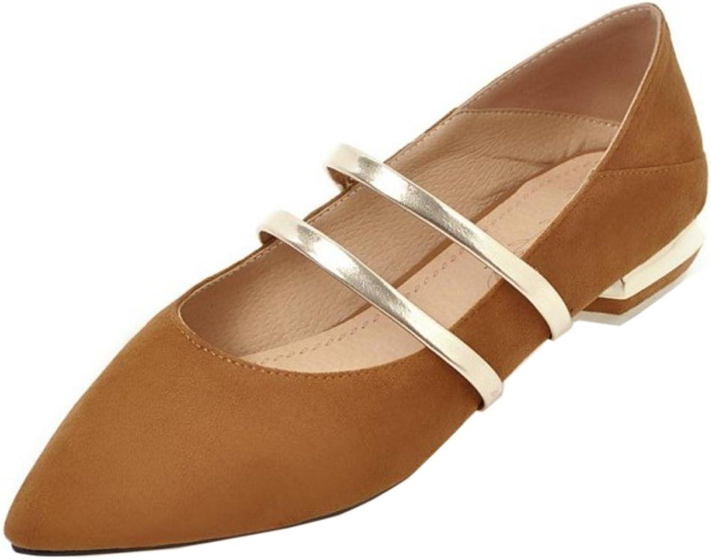 FizaiZifai Women Low Heel Pumps Slip On