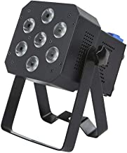 Monoprice Super-Bright PAR Stage Light (RGBAW-UV)   12 watt, x 7 LED, Built-in Program abilities, Such as Fade, Strobe, Color Changing, and Sound Activation Modes - Stage Right Series