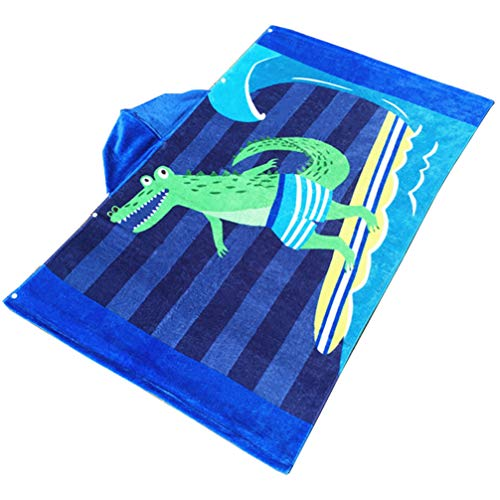 TOPBATHY 1 Pc badhanddoek dikker met capuchon stranddoek grote Poncho Quick Dry Badjas voor peuters Student Kinderen