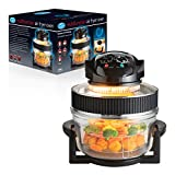 Quest 43850 Electric Multi-function Air Fryer Oven with Extender Ring and Timer, 17 Litre, Large, Black