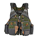 Lixada Fly Fishing Vest-Fishing Safety Life Jacket Breathable Polyester Mesh...