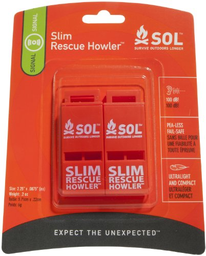 S.O.L. Survive Outdoors Rescue Howler Whistle