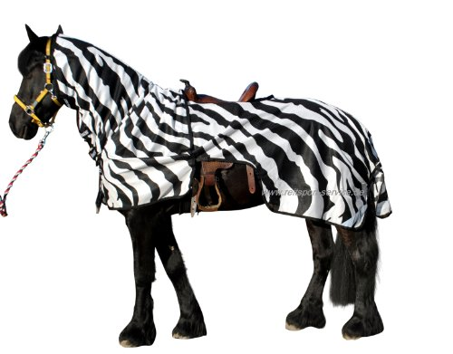 Bucas Buzz off Riding Zebra ausreit Fliegendecke mit Zebra Muster 155