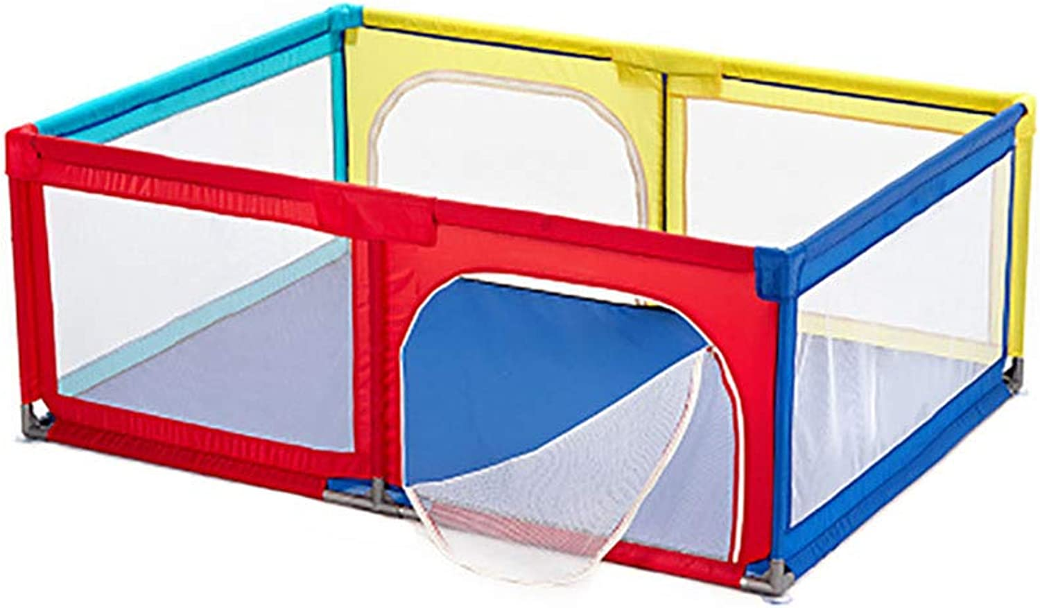 Playpens Safety Game Fence with Breathable Mesh Portable Indoors Outdoors and Parks Fence,120×190×70cm