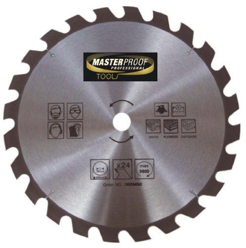 Masterproof lame de scie circulaire bois 400 mm 24 dents spécial trempé à main et scie circulaire de table dans son emballage d'origine