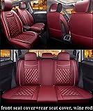 Youthus Fundas Asientos Coche Universales para BMW 1/3/4/5/6/7 X1 X3 X4 X5 X6 G30 E30 E34 E36 E38 E39 E46 E53 E60 Accesorios de Coche Estilo automático, Rojo Vino estándar