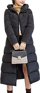 BOZEVON Women Winter Coat - Long Coat Hooded Padded Puffer Parka Winter Jacket Coat
