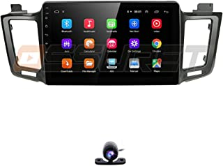 10.1 Inch Double Din Android 9.0 Car Navigation Supports Mirror-Link Backup Camera Steering Wheel Control SD USB WiFi 4g OBD2 TPMS for Toyota RAV 2013-2017