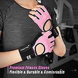Fitself Fitness Handschuhe Trainingshandschuhe Gewichtheben Handschuhe mit Handgelenkstütze für Kraftsport Crossfit Workout Herren Damen - 4