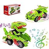 LED DinosauriosJuguetes Niños Coches de Juguetes 2 en 1,Transformers Juguete Car,Coche Robot Niños con Luces de Colores y Sonido,Juguetes Niños 2-13 Años,Juegos Niños,Regalos para Niños