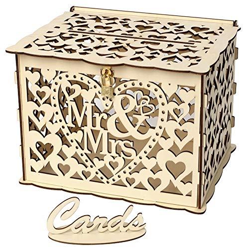 EFINNY Hohl Design DIY Hochzeit Karte Box Mit Karte, Empfang Baby Shower Hochzeitstag Party Dekorationen, Zeichen Geschenk Kartenhalter