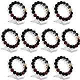 sccsport 10Pcs Clear Jewelry Bracelet Display Holder Bangle Organizer Rack Acrylic Bracelet Display Collar Stand Holder