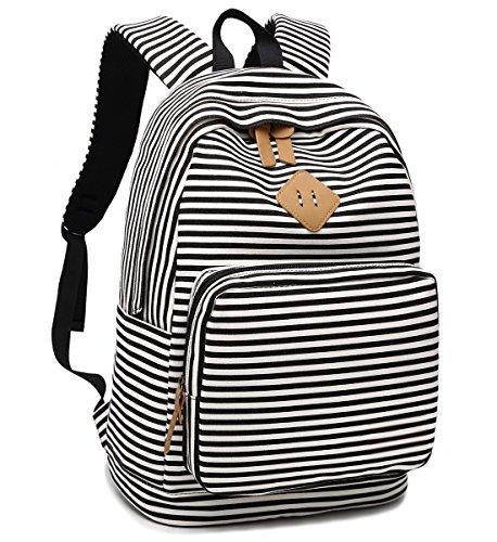 BLUBOON Canvas School Backpack Teen Girls Bookbag Women Travel Laptop...