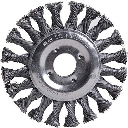 fortis Rundbürste Stahldraht 125 x 0,5 mm gezopft