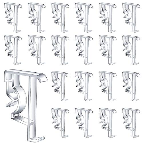 Jetec 20 Pieces 2 Inch Valance Clips Clear Plastic Valance Retainer Clips Hidden Valance Clips Blind Window Valance Clips Window Blind Clips for Window Blinds