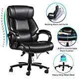 VANSPACE Big and Tall Executive Office Chair 400lb High Back Ergonomic Desk Chair Bonded Leather Chair - Heavy Duty Metal Base, Thick Padding, Adjustable Swivel Chair