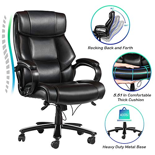 VANSPACE Big and Tall Executive Office Chair 400lb High Back Ergonomic Desk...