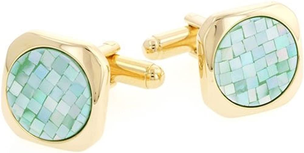 Omaha Mall JJ Weston Green Mother of Pearl The 67% OFF fixed price USA. Made Cufflinks. in