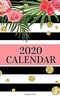 2020 Calendar: Purse Size One Year Pocket Calendar   Pretty Floral Monthly Planner