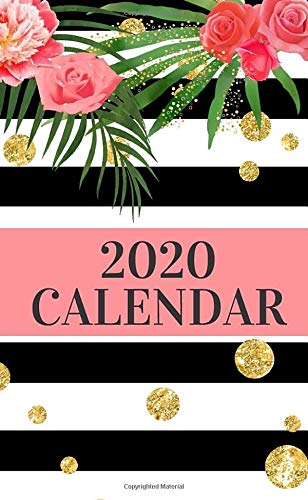 2020 Calendar: Purse Size One Year Pocket Calendar | Pretty Floral Monthly Planner