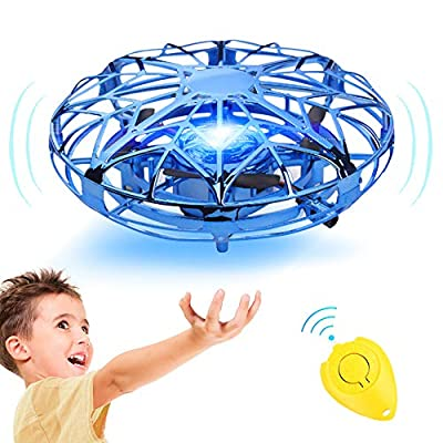 GALOPAR UFO Drone Toys for Kids, Hand Operated Flying Drone for Kids Gifts, USB Rechargeable with 360°Rotating and LED Lights, Hands-Free and Infrared Induction Interactive by GALOPAR