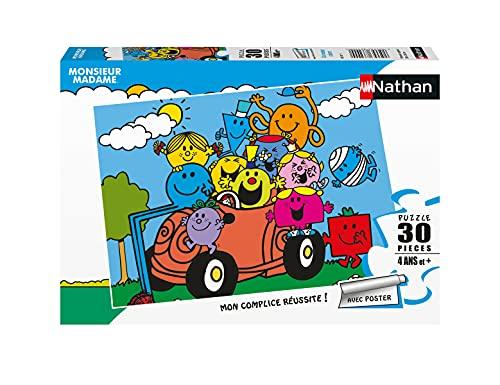 Nathan - Puzzle Enfant - Puzzle 30 p - Un monde coloré - Monsieur Madame - Dès 4 ans - 86381