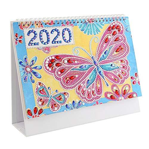 DIY Diamant Schilderij Cover 2020 Bureau Kalender Bureau Pad Kerstmis Verjaardagen Geschenken Ideeën - Vlinder