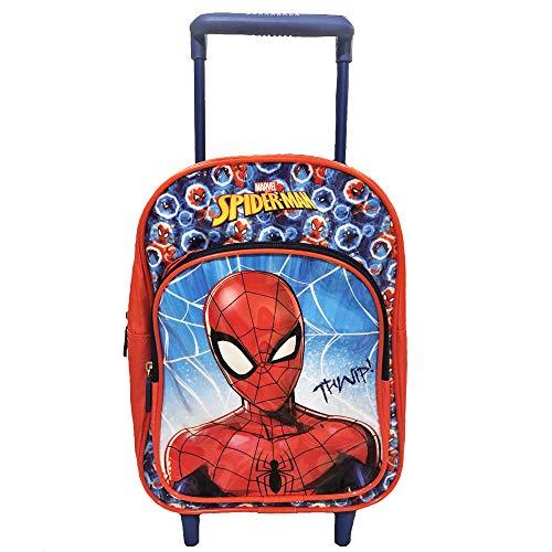Hasbro Trolley Asilo Spiderman Dim. 22x28x10cm con Tasca Frontale con Colori Omaggio