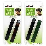 Scunci No-Slip Grip Barrettes, Three-Click System, Assorted Colors, 2-Pcs per pack (4-Pieces Total)
