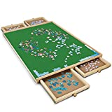Kerrogee Wooden Jigsaw Puzzle Board, for 1500 Pieces Puzzles,Portable Puzzle Table with 4 Drawers, Non-Slip Felt and Mat, Perfect Choice for Both Teens and Adults