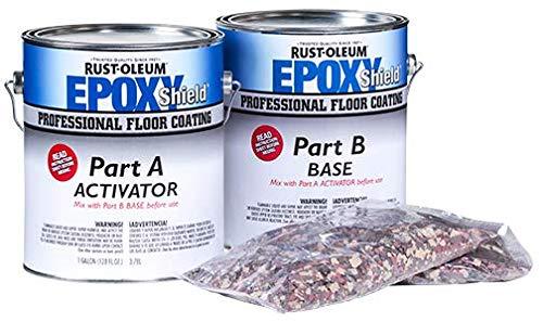 Rust-Oleum 304853 EpoxyShield Professional Floor Coating Kit, Tile Red