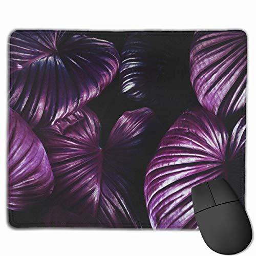 Lila Blumen Blätter Pflanze Violett Rechteckiges rutschfestes Gaming-Mauspad Tastatur Gummi-Mauspad für Heim- und Büro-Laptops