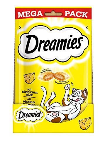 Dreamies kattensnacks kattenlekker, 4 verpakkingen (4 x 180 g), Kaas, 4 x 180g, Käse
