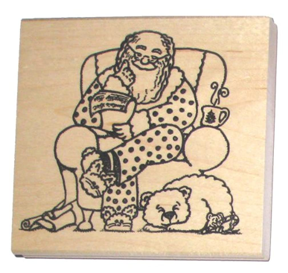 Nature's Blessings Fine Art Stamps, Santa Checking His Naughty or Nice List