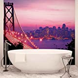 Stadt Skyline Golden Gate Bridge - Forwall - Fototapete - Tapete - Fotomural - Mural Wandbild - (417WM) - XXL - 312cm x 219cm - VLIES (EasyInstall) - 3 Pieces