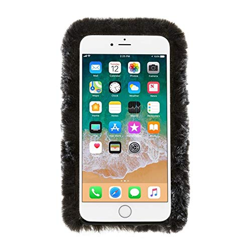 Kendall + Kylie Furry Case for iPhone 8/7, Black - Shockproof