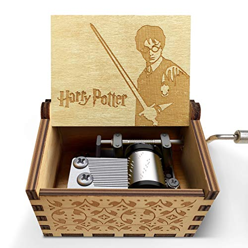 18 - Note Wooden Music Box Toys Collection-for Harry James Potter Themed Friends Birthday Valentine's Day Box for Teens Girls Boys,A Childlike Adult,Gift for Harry James Potter Fans