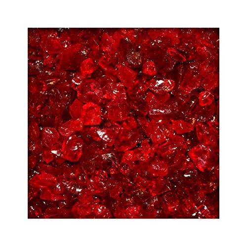 2,5 kg Glassplitt Glasbruch Glassteine Glas Splitt Deko Rot