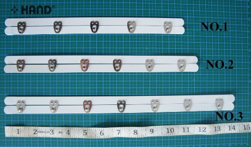 No.1 – 5 Chiusure con ganci per corsetto - Lunghezza 27.5 cm