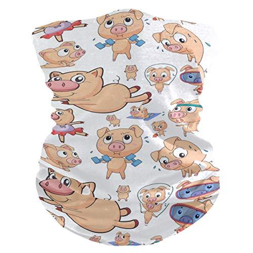 Stoff-Gesichtsmaske für Damen, multifunktional, Bandanas, Schnittmuster, Unisex, Tauchen, Schweine, Stoffmaske, Muster, bedruckbar, für Herren und Damen, Kopfband, Gesichtsband, waschbar, Innentasche