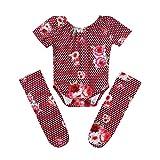 TWISFER Babybody Kurzarm Strampler und Fußschutzanzug Set Unisex Baby Strampler Blumen Muster Ropmers ungen Mädchen Overall Outfits