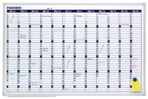 Franken VO-12 Planungstafel Office Planer (X-tra Line Jahreskalender) 60 x 90 cm