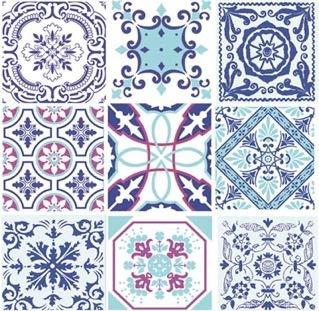 Blue Moroccan Tiles Paper Luncheon Napkins 40pcs Oriental Blue Patterns